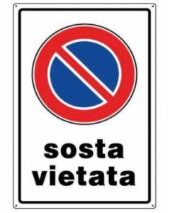 """ORECA - CARTELLO SEGNALETICO """"SOSTA VIETATA"""" IN PVC"""