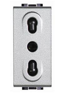 BTICINO LIGHT TECH - PRESA 2P+T BIPASSO INTERASSE -  19mm e 26mm - ALVEOLI SCHERMATI