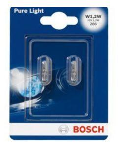 BOSCH - COPPIA LAMPADINE PURE LIGHT W1,2W / 12V 1,2W
