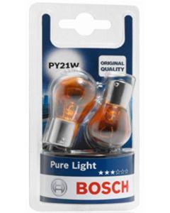 BOSCH - COPPIA LAMPADE PURE LIGHT PY21W - 12V 21W