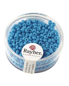 RAYHER - 17 GRAMMI - PERLINE ROTONDE IN VETRO OPACO Ø2,6MM - COLORE AZZURRO
