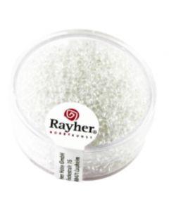 RAYHER - 17 GRAMMI - PERLINE IN VETRO Ø2MM - COLORE CRISTALLO