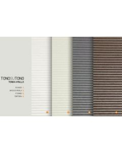 CONCEPT DECOR - TENDA A RULLO TONO SU TONO BIANCO 80X175