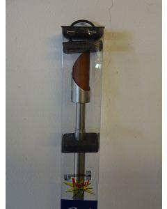 SWISH  - KIT BASTONE PER TENDA IN ACCIAIO NICKEL SATINATO 200-370 cm FINALE CILINDRO
