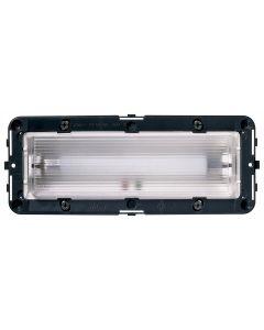 Vimar - Apparecchio di illuminazione d'emergenza 230V 6 moduli Serie Idea colore grigio 16440