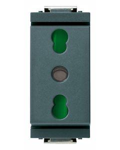 Vimar - Presa 2P+T 16A P17/11 Serie Idea colore grigio 17033