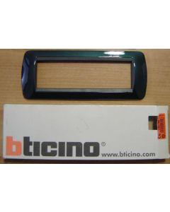 BTICINO - PLACCA LIVING 7 MODULI COLORE BLU METALLIC L4807BT