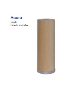 MOBILIA MASIDEF - PIEDE TONDO IN LEGNO ACERO DIAMETRO 50MM REGOLABILE H150