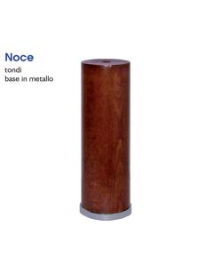 MOBILIA MASIDEF - PIEDE TONDO IN LEGNO NOCE DIAMETRO 50MM REGOLABILE H180MM