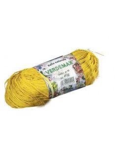 VERDEMAX 4511 Coil Rafia Naturale 50 g, Colore: Giallo