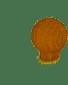 MASIDEF - POMOLO IN LEGNO ROVERE LUCIDO DIAM 30