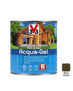 V33 -  Protettivo Completo Per Il Legno All'Acqua, Acqua Gel  2,5 litri colore Noce Antico