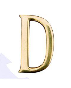 """MASIDEF - LETTERA IN OTTONE LUCIDO 5cm """"D"""""""