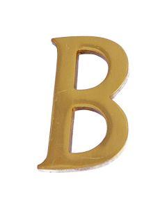 "MASIDEF - LETTERA IN OTTONE LUCIDO 5cm ""B"""