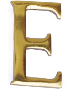 """MASIDEF - LETTERA IN OTTONE LUCIDO 5cm """"E"""""""