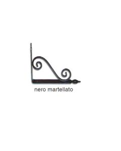 MASIDEF - MENSOLA RUSTICA ELEGANTE NERA MARTELLATA 20X15CM