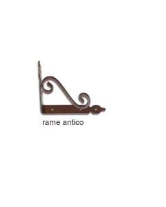MASIDEF - MENSOLA RUSTICA ELEGANTE RAME ANTICO 14X11CM