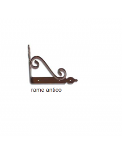 MASIDEF - MENSOLA RUSTICA ELEGANTE RAME ANTICO 23X18CM