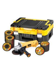 DeWALT d28135kt smerigliatrice ø125 mm 1400 W con valigetta e dischi 35 pz.