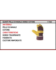 ORECA - GUANTI PELLE DI MAIALE DORSO COTONE TG 10.5