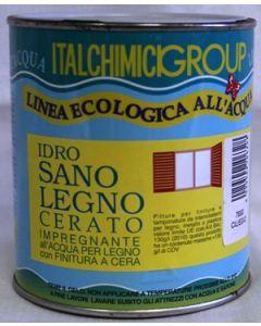 ITALCHIMICIGROUP- IMPREGNANTE ALL'ACQUA PER LEGNO CON FINITURA A CERA 750 ML CILIEGIO 7690