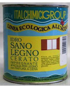 ITALCHIMICIGROUP- IMPREGNANTE ALL'ACQUA PER LEGNO CON FINITURA A CERA 750 ML MOGANO 7640