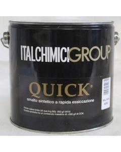 ITALCHIMICIGROUP-QUICK SMALTO SINTETICO A RAPIDA ESSICCAZIONE ML 2500 RAL 8017 MARRONE SCURO