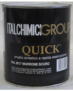 ITALCHIMICIGROUP QUICK - SMALTO SINTETICO A RAPIDA ESSICCAZIONE 750 ML MARRONE SCURO RAL 8017