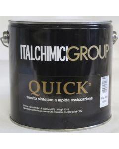 ITALCHIMICIGROUP QUICK - SMALTO SINTETICO A RAPIDA ESSICCAZIONE 2500 ML NERO RAL 9005