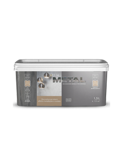 RMD - STILE METAL PITTURA DECORATIVA EFFETTO METALLIZZATO ACCIAIO 1,5 L