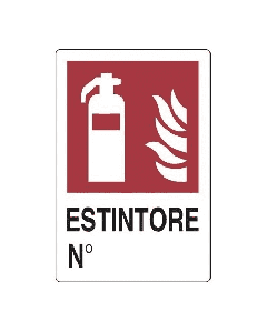 PUBBLICENTRO - CARTELLO ESTINTORE N° 300X200mm IN ALLUMINIO