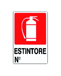 PUBBLICENTRO - CARTELLO ESTINTORE N° 300X200mm IN PVC