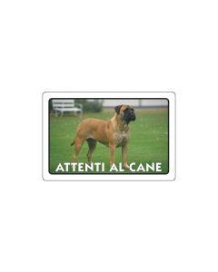 PUBBLICENTRO - CARTELLO ATTENTI AL CANE 300X200mm IN PVC