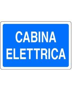 PUBBLICENTRO - CARTELLO CABINA ELETTRICA 300X200mm IN ALLUMINIO