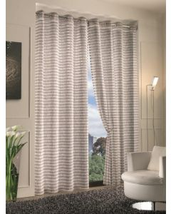 HOME COLLECTIONS - COPPIA TENDINE STRIPES 70X150  CM PIOMBO IN POLIESTERE