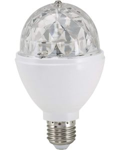 BRILONER - DISCO LIGHT LAMPADINA LED MULTICOLOR GIREVOLE E27 3 W RGB diam. 8cm