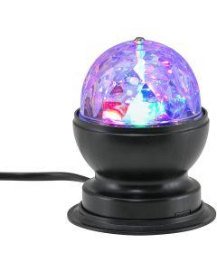 BRILONER - DISCO LIGHT LAMPADA LED GIREVOLE MULTICOLOR  3 watt RGB DIAMETRO 8,80cm NERA