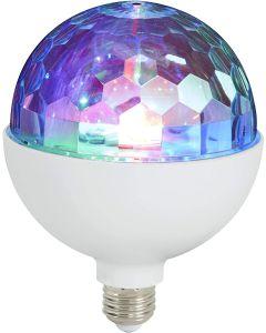 BRILONER - LAMPADINA DISCO LIGHT MULTICOLOR GIREVOLE LED E27 3 watt RGB diam. 12,5cm
