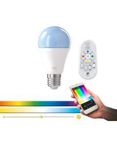 EGLO - LAMPADA LED A COLORI 9W CON CONTROLLO BLUETOOTH E TELECOMANDO MESH 806LM