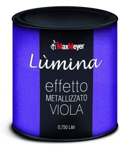 MAXMEYER - LUMINA FINITURA METALLIZZATA PER INTERNI EFFETTO METALLIZZATO VIOLA 750 ML