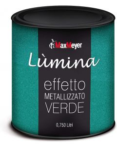 MAXMEYER - LUMINA FINITURA METALLIZZATA PER INTERNI EFFETTO METALLIZZATO VERDE 750 ML