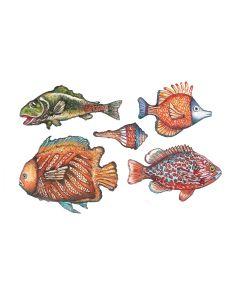 TO-DO - CARTA DECOUPAGE MINI SOFT-PAPER COLOURFUL FISHES 1 25X35CM