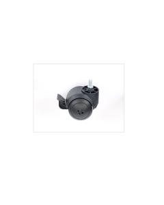 SACAR - 1 RUOTA GOMMATA CON FREMO E FILETTO mm.8X15 DIAM. 50mm