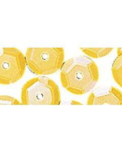 RAYHER - PAILLETTE CONCAVE GIALLO IRIDISCENTE 6MM - 6GR