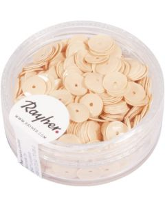 RAYHER - PAILLETTE CONCAVE ROSA CARNICINO 6MM - 6GR