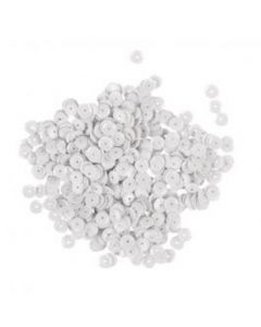 RAYHER - PAILLETTE CONCAVE BIANCO 6MM - 6GR