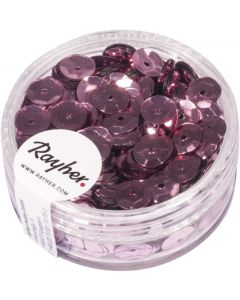 RAYHER - PAILLETTE CONCAVE ROSA ANTICO 6MM - 6GR