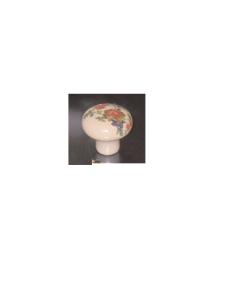 ORECA - 1 POMOLO TONDO IN PORCELLANA CON FIORE 30X25mm