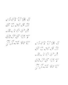 CALAMBOUR COLLEZIONE EASY - MASCHERINA STENCIL A4 21X29,7CM ALFABETO 339