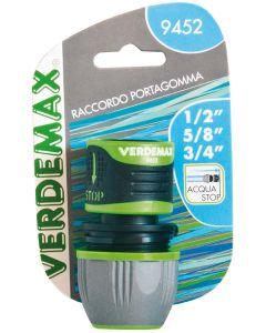 VERDEMAX 9452- RACCORDO PORTAGOMMA 1/2-5/8-3/4 ACQUASTOP